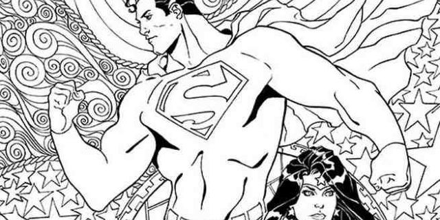 EXCLUSIVE: DC Comics Coloring Book Covers For Superman