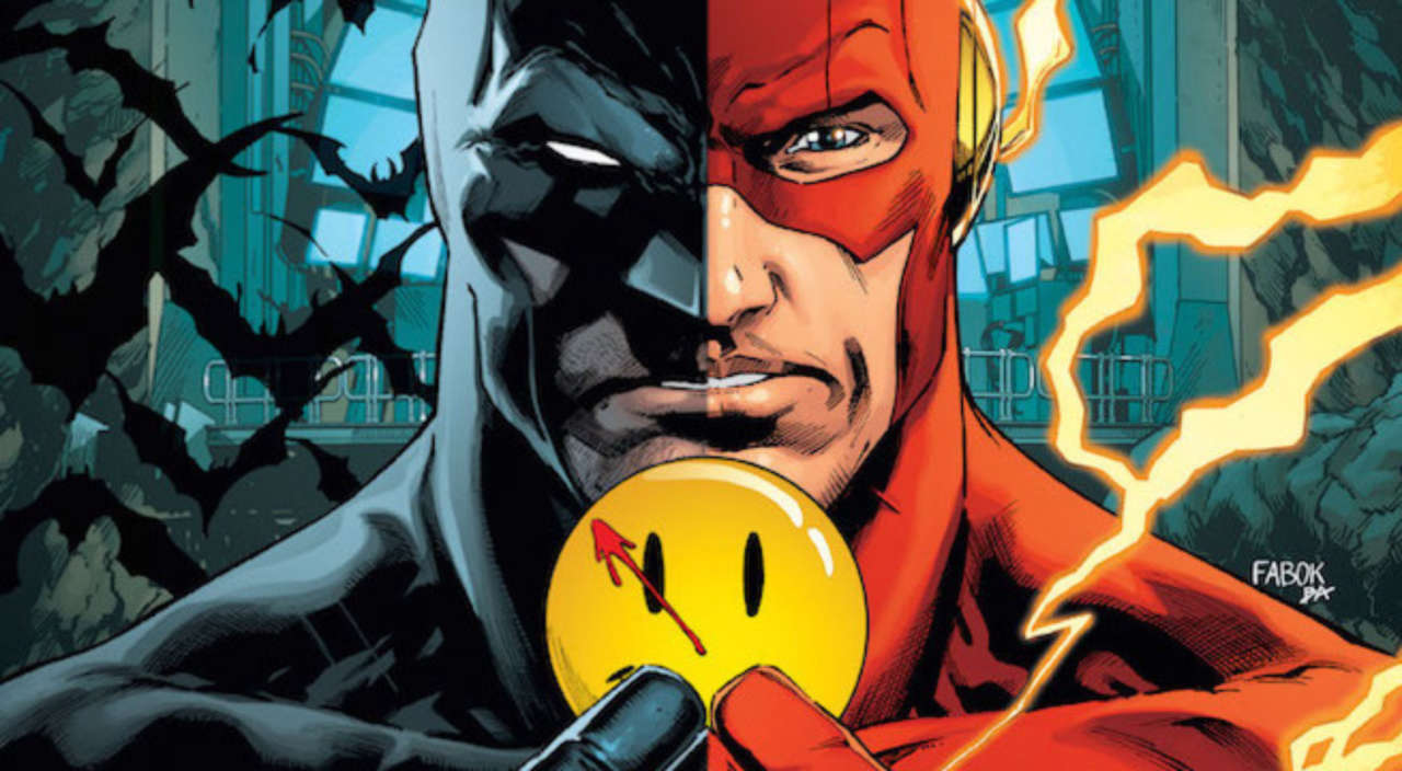 Image result for batman/flash the button