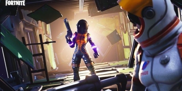 Omega Fornite Wallpaper Fortnite Dark Vanguard Outfit And Space Shuttle Gliders