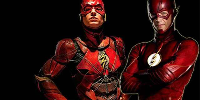 Ezra Miller Has a Message for The Flash TV Shows Grant Gustin