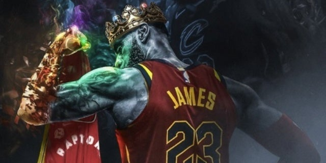 FanArt Imagines Lebron James With Infinity Gauntlet After