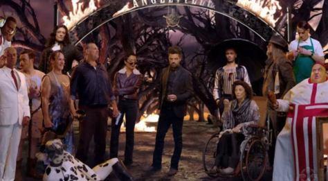 De cast van Preacher S3 met Dominic Cooper, Ruth Negga & Joseph Gilgun