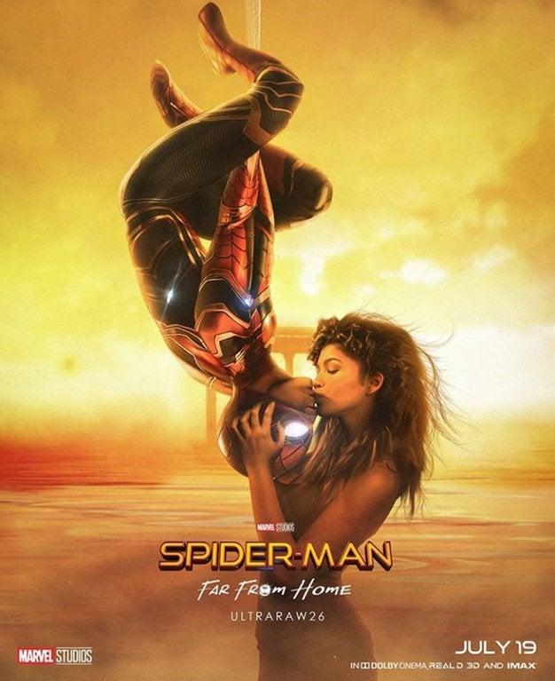 Upside Down Kiss : upside, Spider-Man:, Home', Poster, Tribute, Original