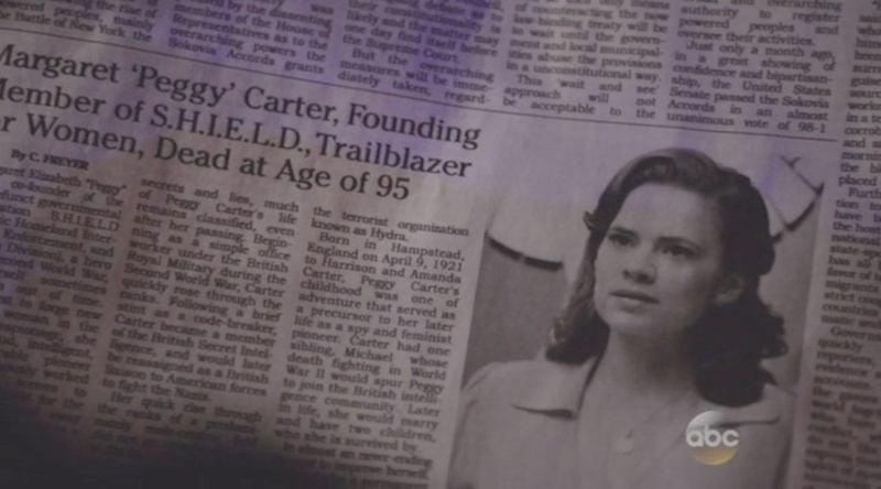 Obituário de Peggy Carter