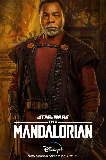 Carteles de personajes de la temporada 2 de Star Wars The Mandalorian Carl Weathers