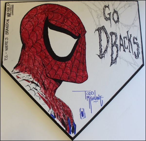 Man Of Steel Todd Mcfarlane' Spider-man Charity Home Plate Project