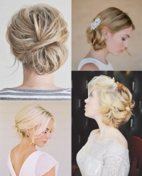Pictures Of Wedding Updos For Short Hair