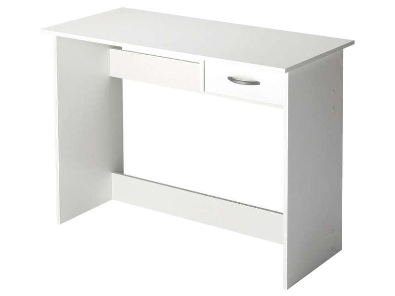 Bureau 1 Tiroir ALPIN Coloris Blanc Vente De Bureau