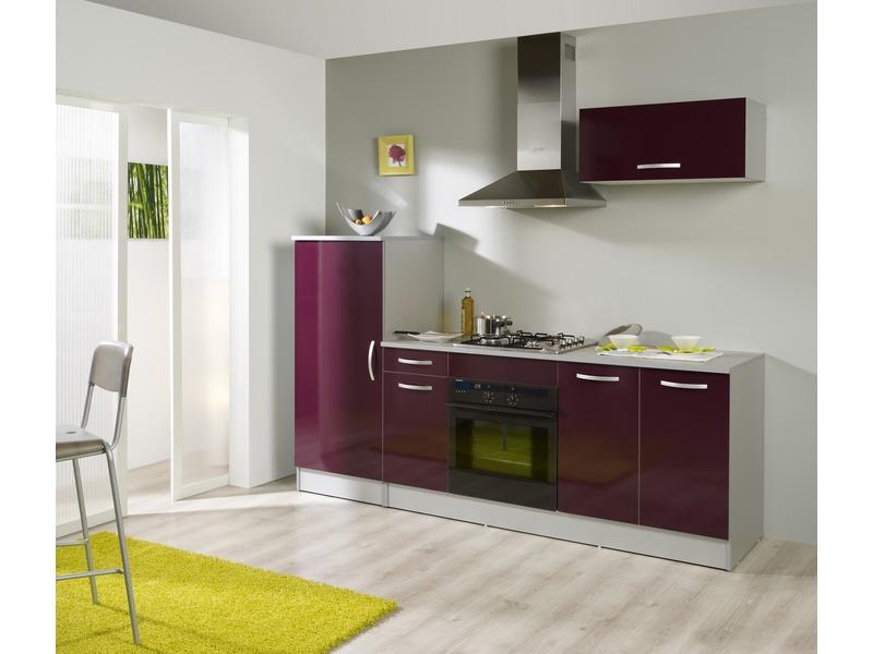 meuble bas cuisine aubergine