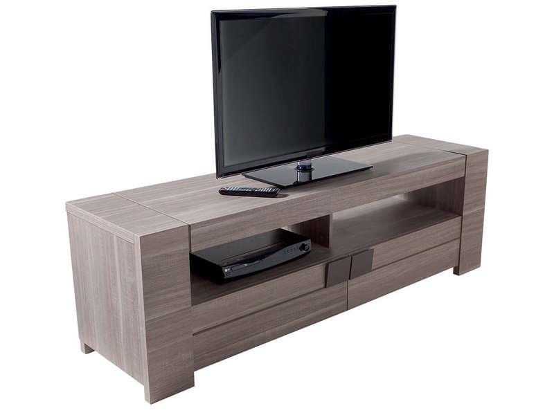 Meuble TV 182 Cm ATLANTA Coloris Chne Fusain Vente De