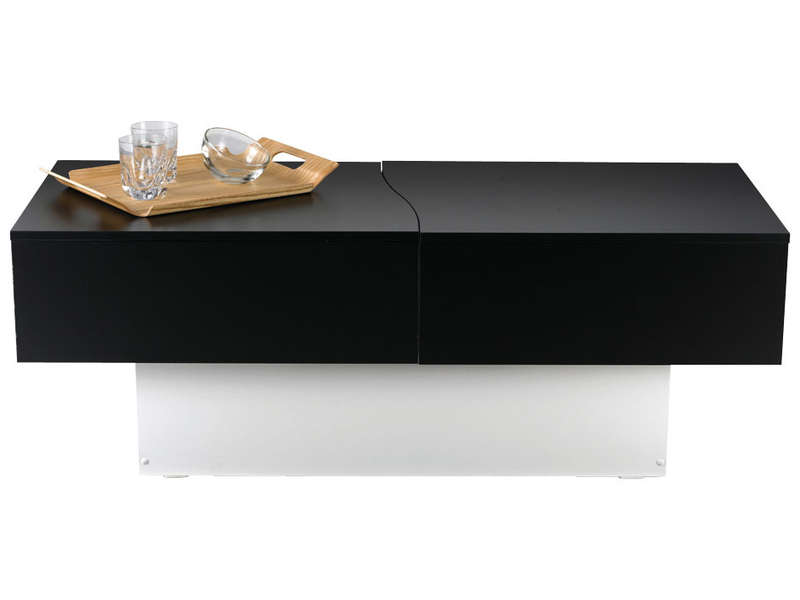 table basse city box coloris noir blanc vente de table basse conforama
