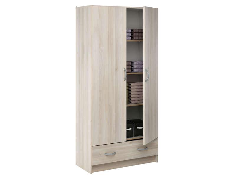 lingere 2 portes 1 tiroir cobi coloris acacia vente de armoire conforama