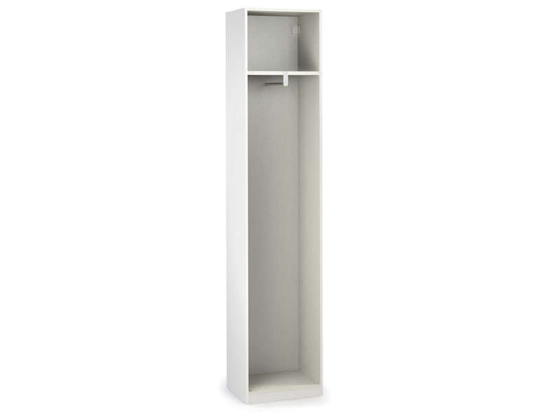 Caisse 1 porte L50 cm NO LIMIT coloris blanc  Vente de Armoire  Conforama