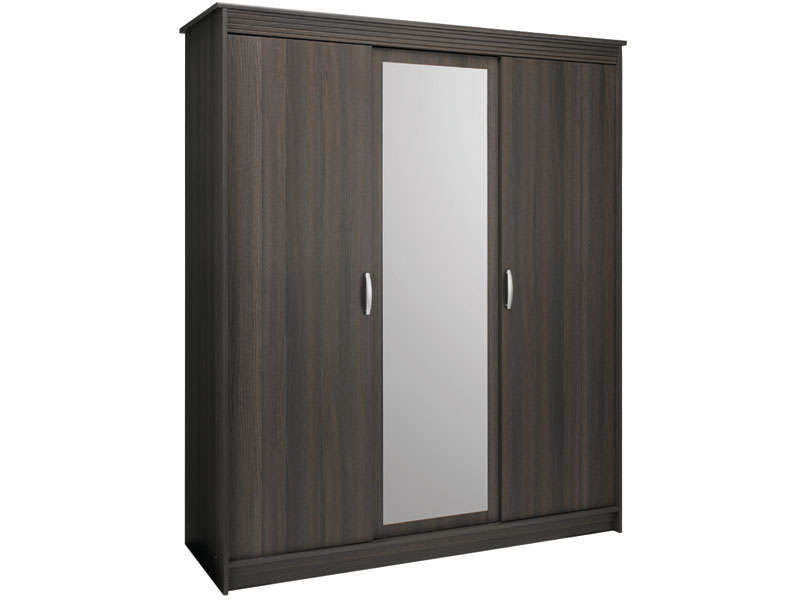 armoire 3 portes harmonie coloris chene vulcano vente de armoire conforama