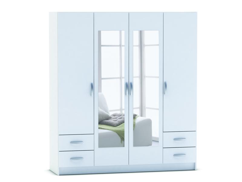 Armoire 4 Portes 4 Tiroirs SPOT Coloris Blanc Vente De