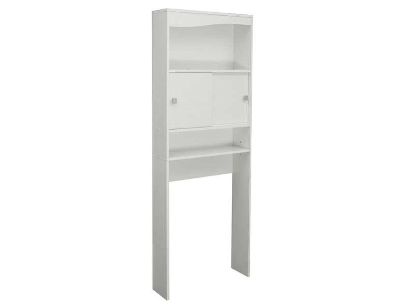 meuble de rangement wc machine a laver eos coloris blanc vente de armoire colonne etagere conforama