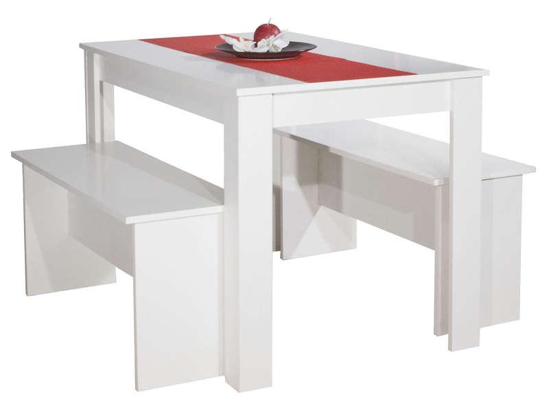 table 110x70 cm 2 bancs