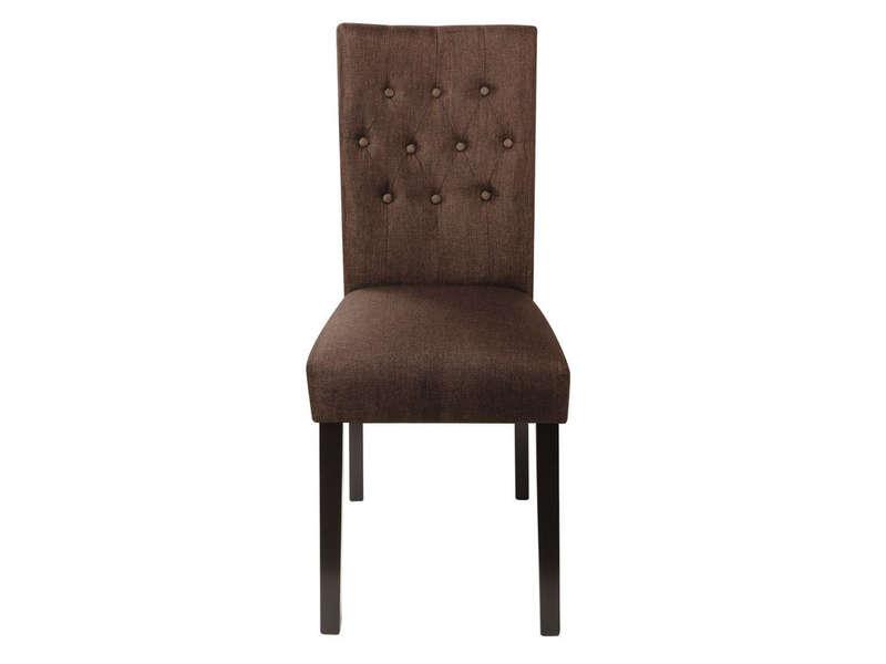 chaise arthus coloris marron pas cher