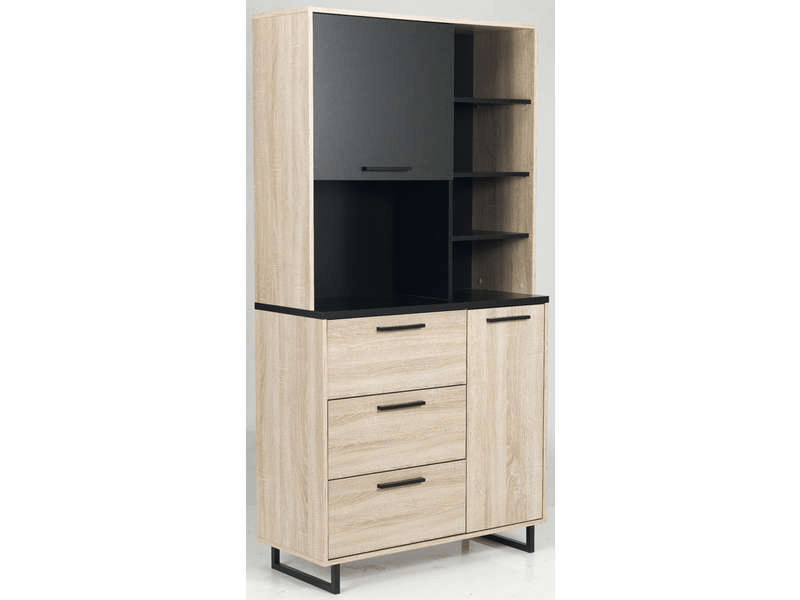Buffet 2 portes  3 tiroirs INDUS  Vente de Buffet de cuisine  Conforama