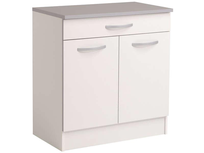 meuble bas 80 cm 2 portes 1 tiroir