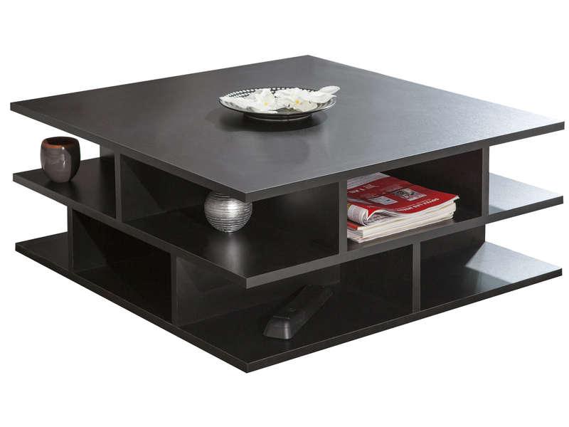 Table Basse Carrée 70 Cm Multi Coloris Noir  Vente De