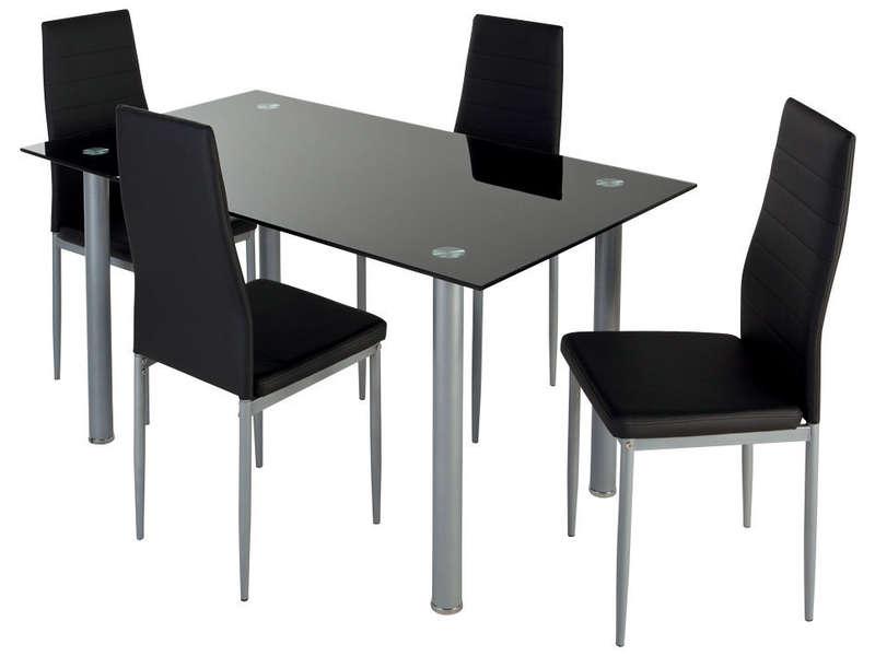 ensemble table 4 chaises featuring coloris noir vente de ensemble table et chaise conforama