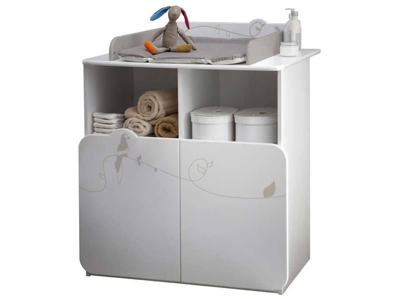 Commode JUNGLE coloris blanc dcor jungle  Vente de