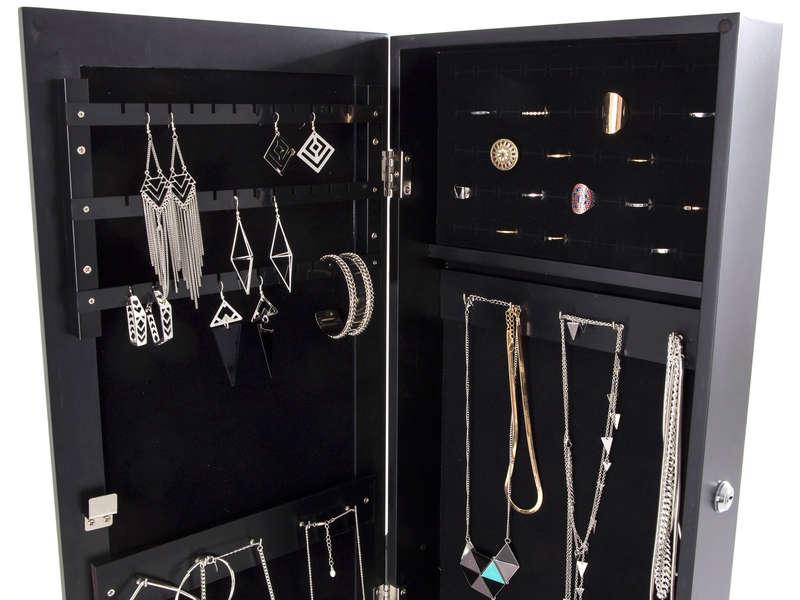 Miroir Psych Avec Coffre Bijoux BRANDY Coloris Noir
