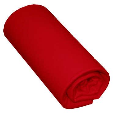 Drap housse 160X200 cm SATINA coloris rouge