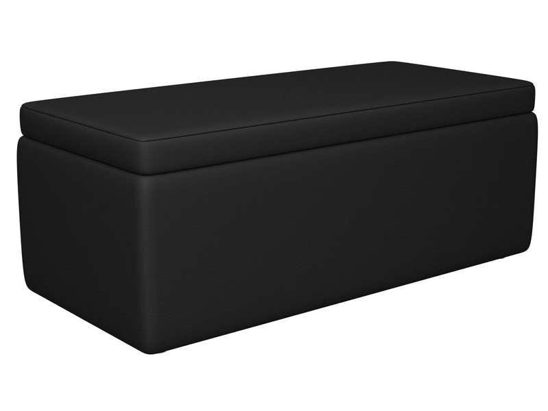 Banc Coffre En PU Coloris Noir Vente De Chaise De Jardin