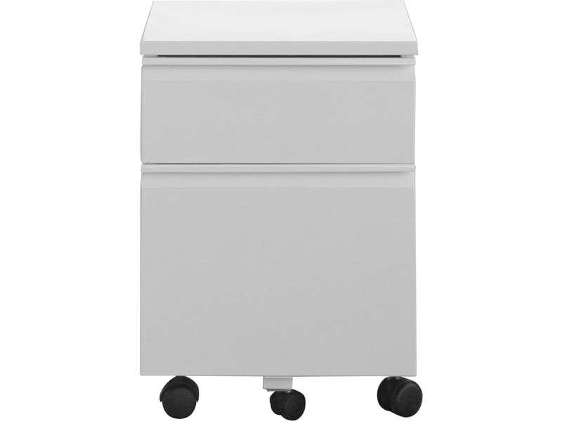 caisson 1 tiroir primo coloris blanc vente de accessoires de bureau conforama