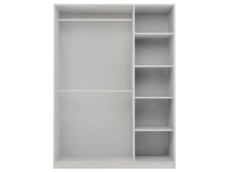 caisse d armoire 3 portes twist coloris blanc vente de armoire conforama