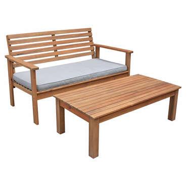 table basse banc de jardin en acacia