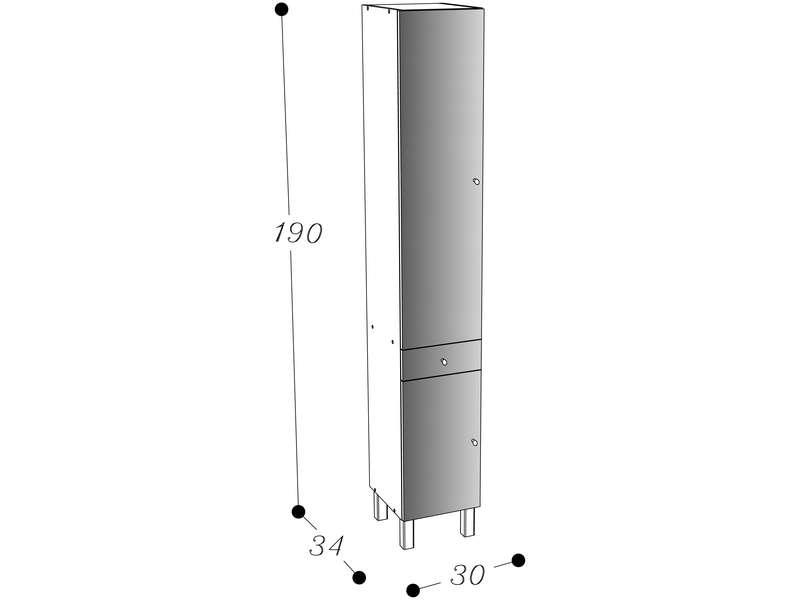 colonne rangement largeur 30 cm venus