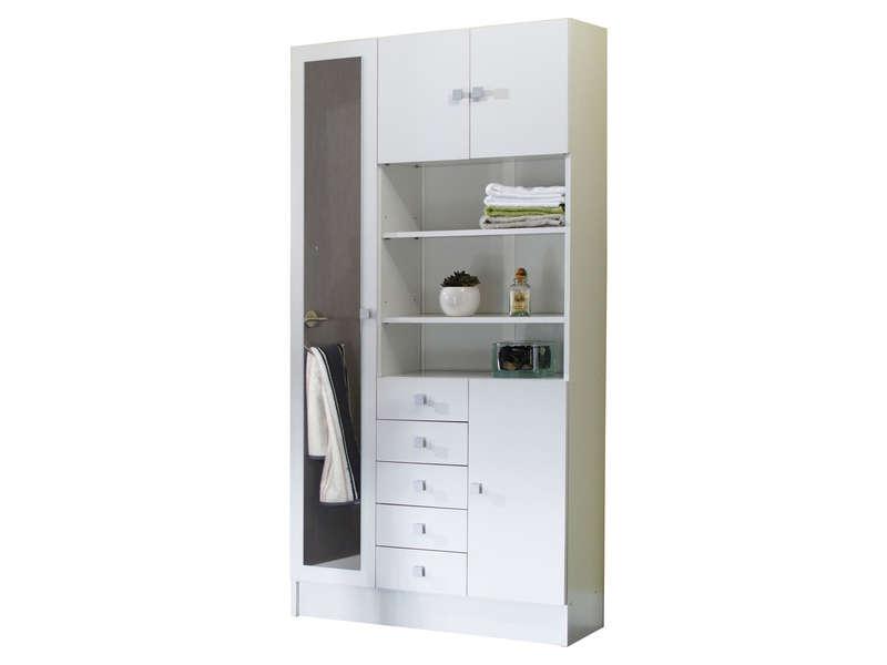 armoire de salle de bain portes tiroirs