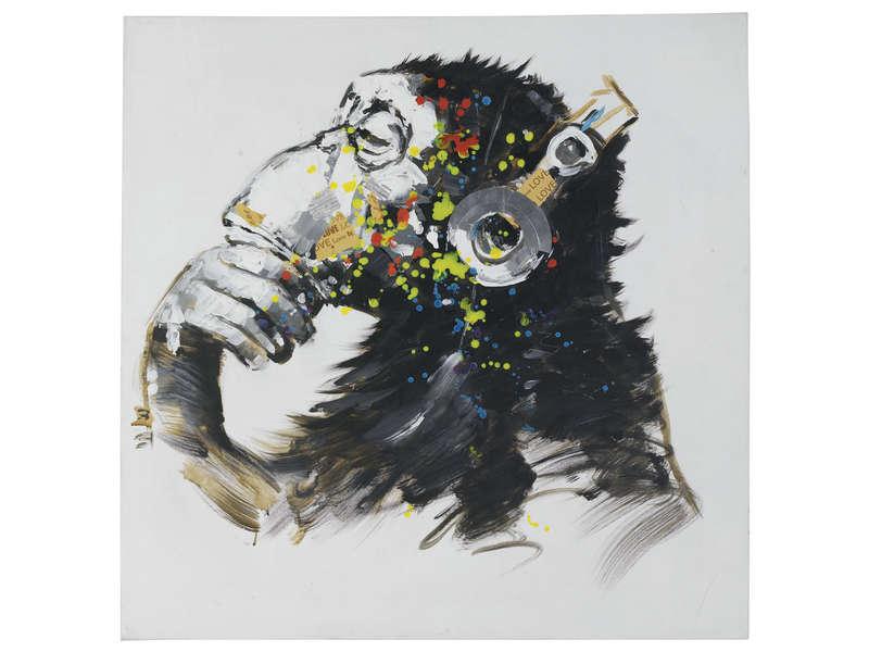Peinture Lhuile 80x80 Cm MARVIN Vente De Toile Et