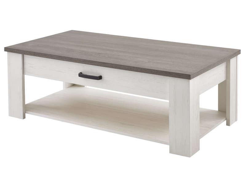 table basse rectangulaire 1 tiroir
