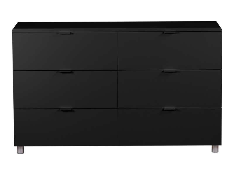 Commode 6 tiroirs EASY 3 coloris noir  Vente de Commode  Conforama