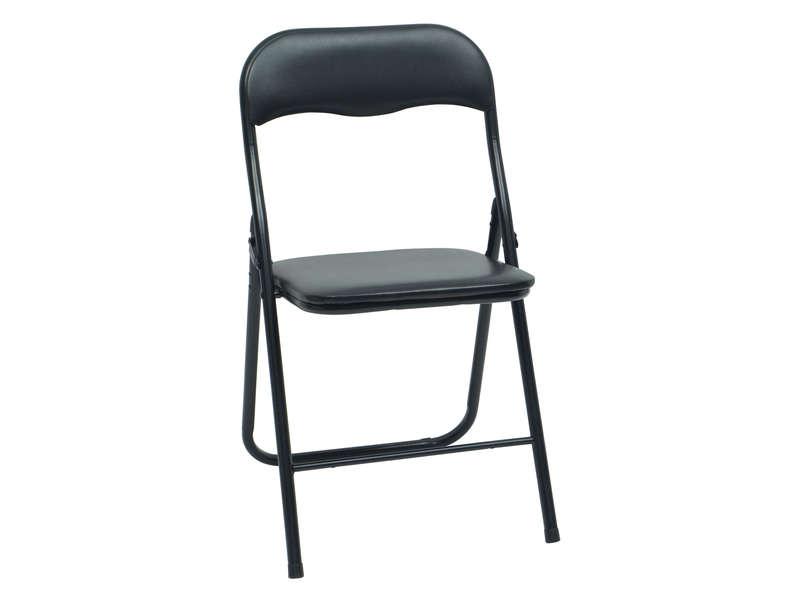 chaise pliante lilas coloris noir vente