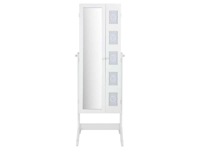 Miroir psych blanc CHLO  Vente de Miroir sur pied et Psych  Conforama