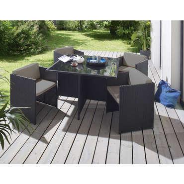 salon de jardin 1 table et 4 fauteuils 615416