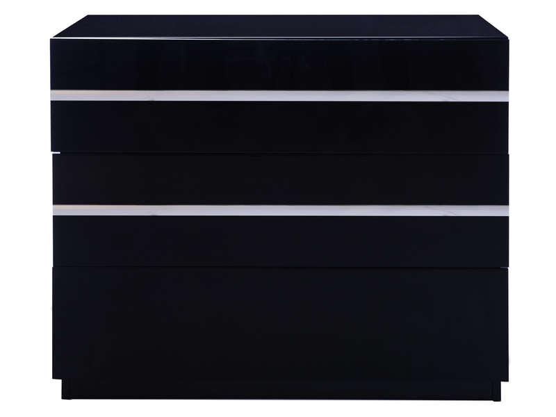 Commode 3 tiroirs GLASS coloris noir  Vente de Commode  Conforama