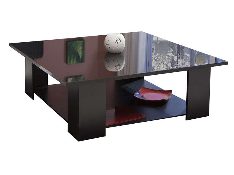 Table Basse Carrée Kimilake Coloris Noir  Vente De Table