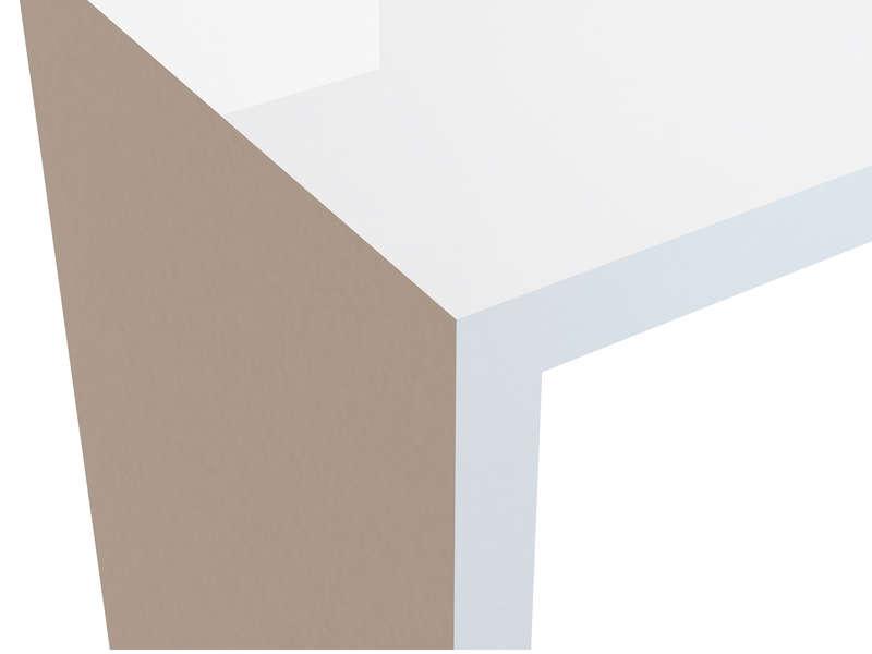 Bureau gloss coloris blanc vente de bureau conforama bureau