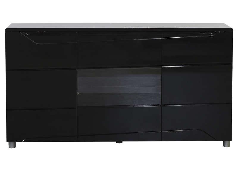 portes 2 tiroirs newport coloris noir