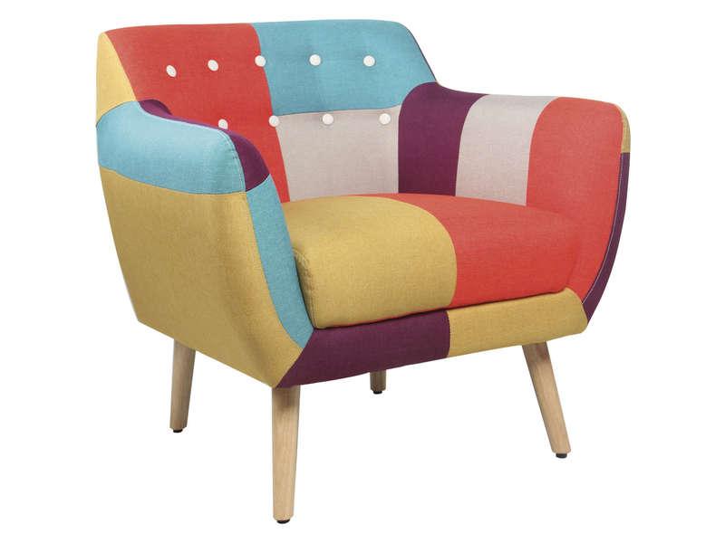 fauteuil en tissu patchwork