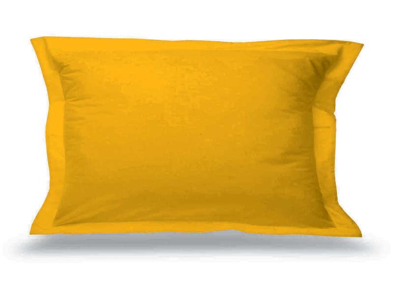 taie d oreiller 50x70 cm perla coloris jaune vente de taie d oreiller et traversin conforama