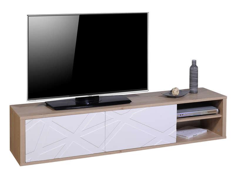 Meuble TV 180 Cm GRAPHIK Coloris Chneblanc Vente De