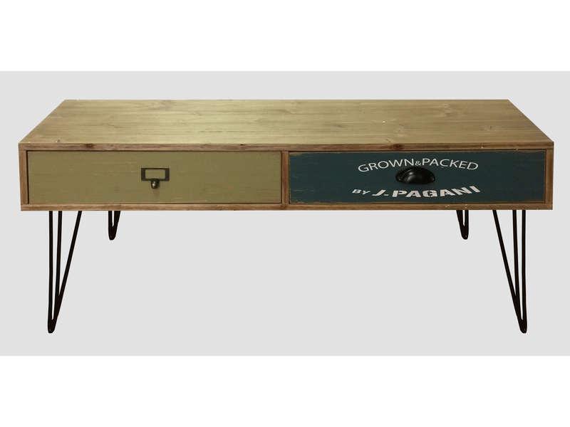 table basse en bois massif marty