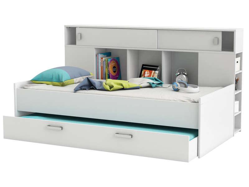 lit avec rangement 90x200 cm